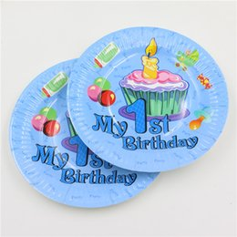 Wholesale-New design 1st birthday party 7inch paper plate for baby boy 1 year old party\u0027s best disposable decoration 12pcs bag  sc 1 st  DHgate.com & Disposable Plates For Parties Coupons Promo Codes \u0026 Deals 2018 ...