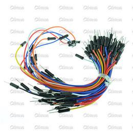 Wholesale Wholesale Breadboard - Wholesale- Male to Male Solderless Flexible Breadboard Jumper Cable Wires 65Pcs