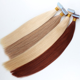 Wholesale Tape Remy Blonde Extensions - ELIBESS Brazilian remy human hair skin weft hair extension 2.5g pcs 40pcs lot blonde color tape in human hair