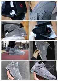 Wholesale Glowing Glitter Dark - KAWS x Air Retro 4 XX Kaws Cool Grey White Glow Men Basketball Shoes men shoes retro 4s White Blue black sports sneakers