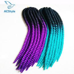 Wholesale Kanekalon Braiding Hair Free Shipping - Top-selling 120g Fashion 22inch Synthetic Braiding Hair Ombre Kanekalon Braiding Hair Havana Mambo Twist Crochet Free Shipping