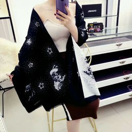 Wholesale Tops Star Designs - Top Qualtiy Imitation cashmere horse design Winter Scarf Women Brand Big Size 180x60cm Scarves Pashmina Infinity Scarf WomenThick Shaw