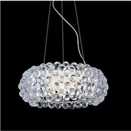 Wholesale Acrylic Ceiling Lamp Chandelier - Foscarini Pendant Light Foscarini Caboche Chandelier Clear Transparent Amber Acrylic Ball Pendent Lamp Ceiling Lamp Hanging Light Restaurant