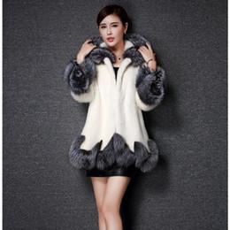 Wholesale Knit Mink Fur Coat - Women Fur Coat 2017 Winter New Design Imitation Fox Fur Coat Mink Europe Luxury Women Long Skirt Styles Faux Fur Coat Women