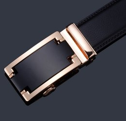Wholesale Automatic Buckles Leather Belt - men's leather belt Fashion automatic buckle casual s Waist Strap Belt