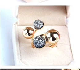 Wholesale Small Pearl Clusters - 6PCS Simple Design Wedding Rings Small Gold Beans Cluster Rings with Brass Alloy 9.4g Fashionable Women's Decorative Jewelry for Party