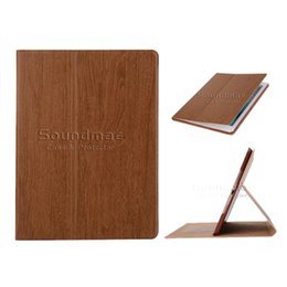 Wholesale Smart Cover Ipad Wood - KAKU Wood Auto Wake Sleep Case with Card Slot For iPad 2 3 4 5 6 air 1 2 mini 2 3 4