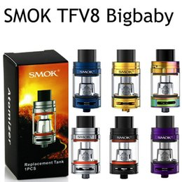 Wholesale E Cigarette V8 - Single SMOK TFV8 Big Baby Tank & Baby Tank With Top Filling Cloud V8 Atomizer SMOK Stick V8 vape Vaporizer E Cigarettes Kits