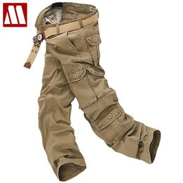Wholesale Cargo Bottoms - Wholesale-free shipping Sales men's casual cotton cargo pants combat camouflage pant men's Bottoms pockets trousers for man W28- W42 C456