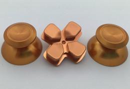 Wholesale Key Pad Switch - Aluminum Metal D-PAD D PAD Button Key + Thumbstick Thumbsticks Set For PS 4 Controller DHL FEDEX FREE SHIP