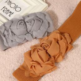Wholesale Celebrity Style Dresses Wholesale - Wholesale- Super Women Celebrity Style Rose Flower Elastic Dress Waist Band Stretchy Belt