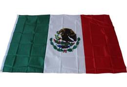 Wholesale Cm Festival - 90*150cm Mexico Flag Polyester Flag Banner for Festival Home Decoration mexico national flag 90x150cm DHL free