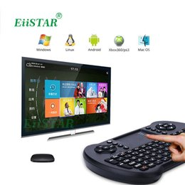 Wholesale Wireless Keyboard Mini Smartphone - S501 Super Mini 2.4GHz Wireless QWERTY Keyboard Air Mouse Combo Remote Controller with Touchpad Handheld for Smartphone Pad Laptop TV box