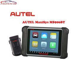laptop automotivo Desconto Ferramenta de Diagnóstico Sem Fio Do Carro Originais AUTEL MaxiSys MS906BT OBD2 Bluetooth MS906 BT Codificação ECU Scanner Melhor Do Que MaxiDas DS708