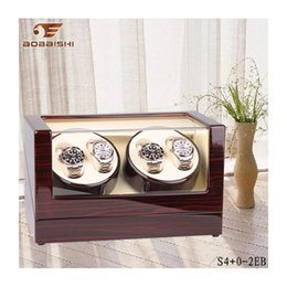Wholesale Wood High Table - High quality 4 position rotating display watch box Shaking table electric watch box Wood Watches boxs