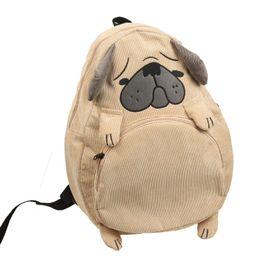 Wholesale Fox Bags - Women Backpack Schoolbag Canvas Cute Dog Fox Ear Embroidery Corduroy Backpack Female Vintage Notebook Backpack For Girls School