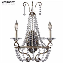 Wholesale Vintage Lustres - America Style Crystal Wall Light Vintage Lustres Wall Sconces Lamp Bedroom Wall Brackets Lighting Fixture 100% Guarantee