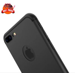 Wholesale Iphone Case Matt - TPU Soft Silicone Matte Case For iphone 8 7 I7 6 6S Plus iphone8 Cell Phone Frosted With Dust Plug Round Hole Matt Back Cover For iphone 7