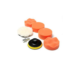 Wholesale Wholesale Buffing Pads - 7 Pcs Polishing Buffing Pad Kit For Auto Car Polishing Wheel Kit Buffer Car Removes Scratches Car Styling