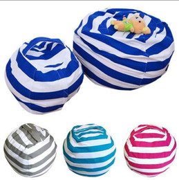 Wholesale Home Play - Storage Stuffed Animal Storage Bean Bag Chair Portable Kids Toy Storage Bag Play Mat Clothes Home Organizer OOA3748