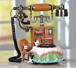 Wholesale Animal Callers - Retro fixed telephone, fashion originality, personality, lovely decoration, home phone, caller ID, antique telephone set
