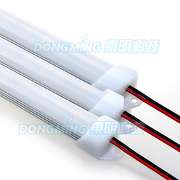 Wholesale U Profiles - 5pcs 100cm 12V led bar light 7020 led rigid strip aluminum 1m + U Profile + PC milky clear cover + DC connectors