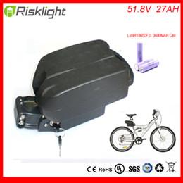 Canada nouvelle arrivée 52 v e-bike pack batterie li-ion ebike 51.8V 27AH grenouille batterie légère pour kit de vélo électrique pour LG Cell supplier e bike kit battery Offre