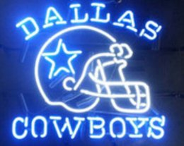 "Wholesale Rohs Sign - New DALLAS COWBOYS Real Glass Neon Light Beer Sign 17""X14"""