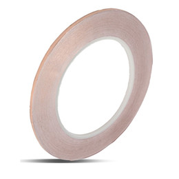 Wholesale Copper Adhesive - Wholesale- 3mmx30m Single Lead Foil Tape Single Conductive Adhesive Tape Self-adhesive Copper Foil Tape EMI Shielding Guitar Accessories