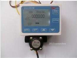 """Wholesale Digital Water Flow - Wholesale- 2015 Hall effect G1 2"""" Flow Water Sensor Meter+Digital LCD Display control"""