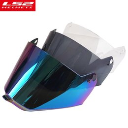 Wholesale Ls2 Visor - LS2 MX436 motocross helmet rainbow shield anti-scratch sun visor off road motobike racing helmet transparent smoke lens