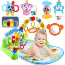 Wholesale Mat Activity Gym - Wholesale- 3 In 1 Newborn Infant Baby Game Bed Baby Toddler Cribs Crawling Activity Gym Mat Floor Blanket Kids Toys Carpet Bedding Soft