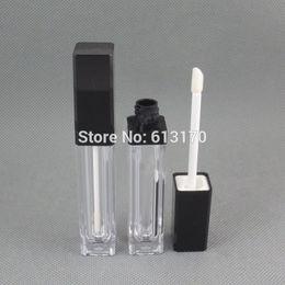 Wholesale Wholesale Lip Gloss Tube - Free shipping 8ml lip gloss tubes,Black cap,Square Lip stick packing container,Empty DIY lip balm bottle 50pcs lot