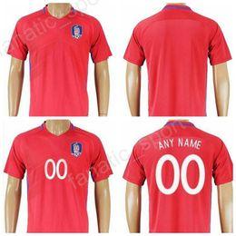 Wholesale Quality H - South Korea Soccer Jersey 2017 2018 National Team 11 H M Son 16 S Y Ki Football Shirt Uniform Kits Foot Tshirt Make Customized Top Quality