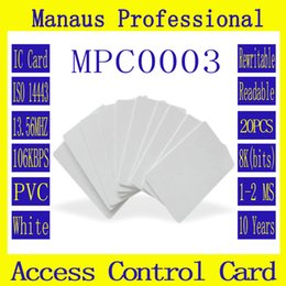 Wholesale Magnetic Card Access - Wholesale- New 20 PCS RFID Tag 13.56 MHZ Contactless High Frequency IC Card White PVC Access Control Attendance Card Wholesale High Quality