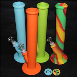 Wholesale Food Choice - Silicone Water Pipe with 8 Colors For Choice Silicone Bongs Smoking Water Pipes VS Glass Bongs Glass Water pipe