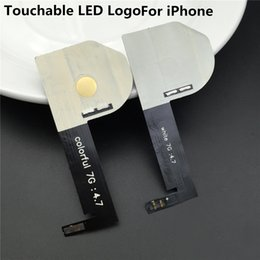 Wholesale White Led Glow Lights - For IPhone 6 6s 6 Plus 6s Plus Luminescent Glowing Logo LED Light White Color 6 6s 4.7 5.5 Free Shipping