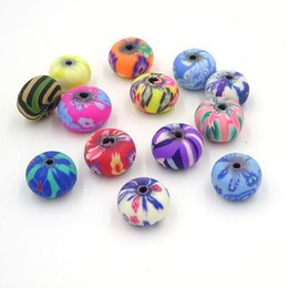 Wholesale Polymer Clay Making - 6*9mm Mix Diy Beads Of Polymer Clay Wholesale Bulk Bead Creation Bijoux Parts To Make Jewelry Boncuk All For Crafts 100Pcs