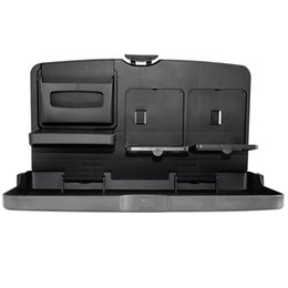 Wholesale Back Seat Folding Table - Universal Auto Car Back Seat Table Drinks Folding Cup Holder Stand Desk Black Multifuntional Trays For All Cars Drinks Holders