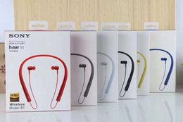 Wholesale Headphone Mdr - New SONY MDR-EX750BT bluetooth 4.1 Wireless Headphone Stereo Sport Earphone With MIC Strong Bass Clear Voice For Iphone 8 7 Samsung s7 edge
