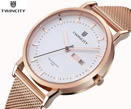 Wholesale watch genuine - Hot brand new Luxury men's leisure sports quartz watches reloj stainless steel Relogio brand dress automatic date genuine wristwatch
