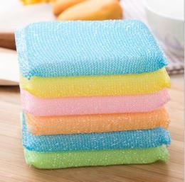Brosse magique en Ligne-4pcs / pack ménage outils de nettoyage multi-usages antibactérien antiadhésif huile lave-vaisselle éponge magique brosse de nettoyage brosse