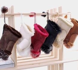 Wholesale Warm Faux Leather Gloves - Faux Rabbit Fur leather gloves Fashion Women Five Fingerless Winter Warm Gloves Hand Wrist Warmer