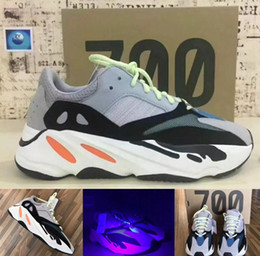 Wholesale Womens Cotton Socks - (with Box socks) Runner 700 Wave Runner Kanye West Running Shoes Men's Shoes Women's Sneakers Mens Sports Boots Womens Boost Man Sport Shoes
