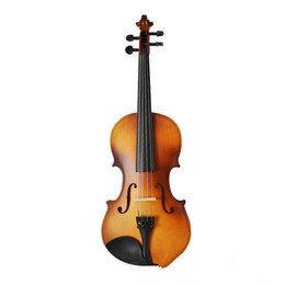 Wholesale Violin Antique - Wholesale-1 8 1 4 1 2 3 4 4 4 Antique Violin Make Violino Spruce Basswood Brown Wood Bow Stringed Instrument Musical More Colors