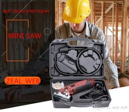 Wholesale Electric Blades - DHL ROTORAZER Saw MINI Circular Electric Saw with 3 Quick Change Blade and Dust Extraction System circle SAW
