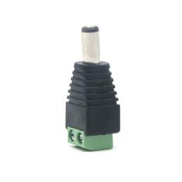 Jack de tomada de pc power dc on-line-Edison2011 10 Pcs 12 V 2.1x5.5mm DC Power Plugue Macho Jack Adaptador Conector Plug para CCTV Cor Única Luz LED