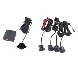 Wholesale Alert Sensors - 4 Sensors Buzzer No Drill Hole Saw 22mm Car Parking Sensor Kit Reverse Radar Sound Alert Indicator System