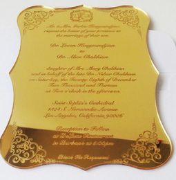 Wholesale Business Card Custom - Acrylic Invitation Wedding Fantastic Business Invitation Card Wedding Supplies custom plexiglass wedding New Event commemorative card