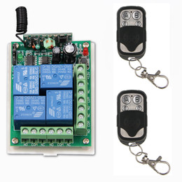 Wholesale Metal Frame Systems - DC 12V 24V 4 CH 4CH RF Wireless Remote Control Switch System, ( 2 Metal Frame Transmitter +1 Receiver),315   433.92 MHZ